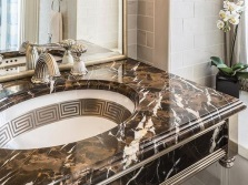Marble countertops in the bathroom Greek style