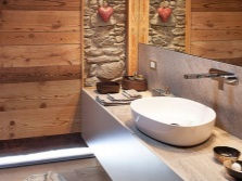 Kitchen furniture in the bathroom in a chalet -style