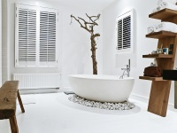 White bathroom in a Scandinavian style