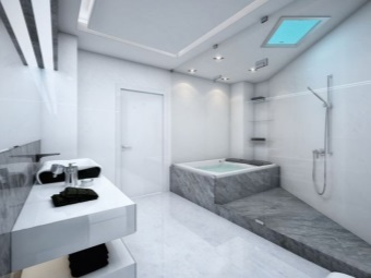 Interior bathroom inherent in high-tech style