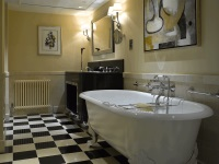 Bathroom in the art deco style