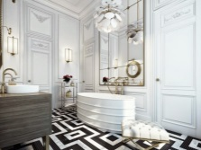 Features Art Deco bathroom