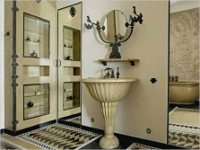 Bathroom in the art deco style and its features