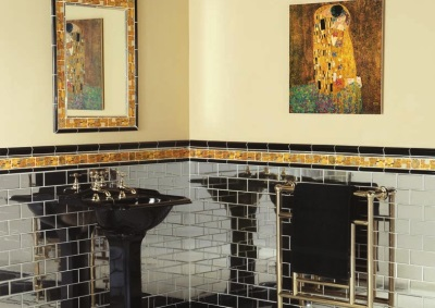 Materials for finishing the bathrooms in the Art Deco style