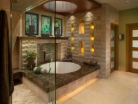 Bathroom in oriental style