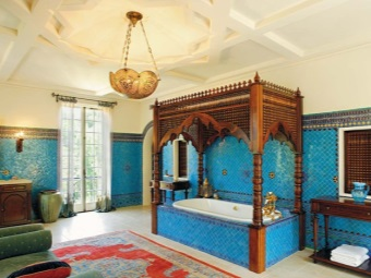 Bathroom in oriental style and its features