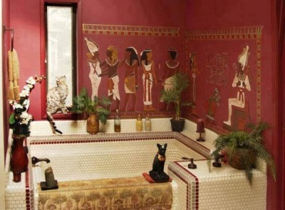 Egyptian style in the bathroom
