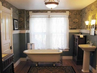 Retro style for the bathroom and its features