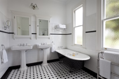 Bathroom in retro style and a bath from Imperial Bathrooms