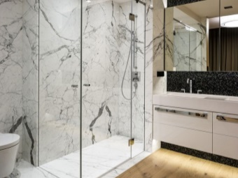 Glass partitions for bathrooms
