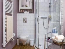 Shower in a small bathroom