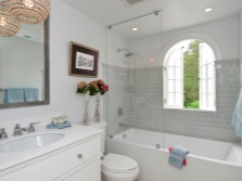 Grey bathroom with window