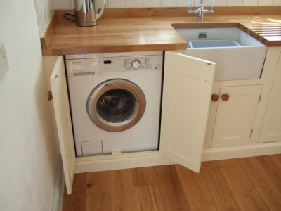 Washing machine in the kitchen built