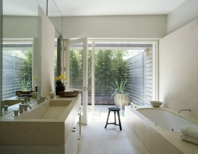 Bathroom with the correct design of feng shui