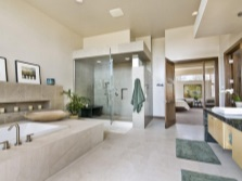 Feng Shui bathroom marble room