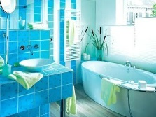 The color scheme of the bathroom feng shui