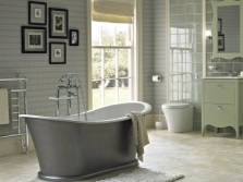 Gray green bathroom