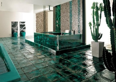 Large emerald bathroom