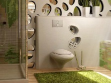 Eco - style in the bathroom