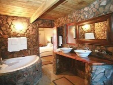 Bathroom decorated in eco- style