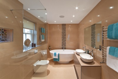 Ceramic tiles for a small bathroom