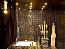 Luxury mosaic tiled bathroom