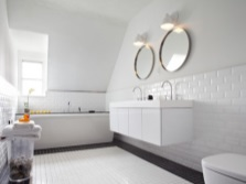 The stylish white bathroom