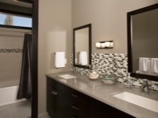 Gray- brown bathroom