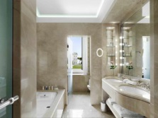 Bathroom with private bath in the classic style