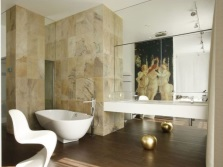 Match the color and style in the bathroom