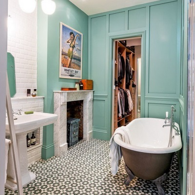 Color solution for the bathroom