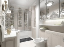 Elegant bathroom in white
