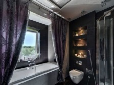 Bathroom in black