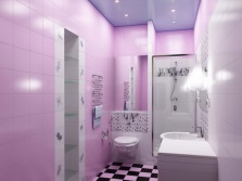 Shades of purple in the bathroom