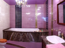 Bathroom in purple color