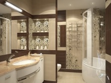 Brown- beige bathroom