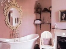 Beautiful pink bathroom in the style of Provence
