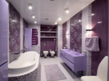The bathroom in shades of purple