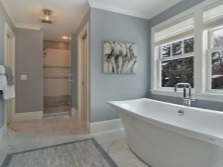 Bright shades of gray for the bathroom