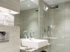 Noble gray finish for bathrooms