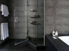 Bathroom in black and shades of gray