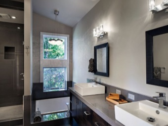 Bathroom furniture gray shades