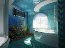 Marine theme in the bathroom