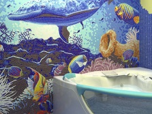 Colours marine style in the bathroom