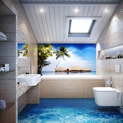 Sea floor bathroom