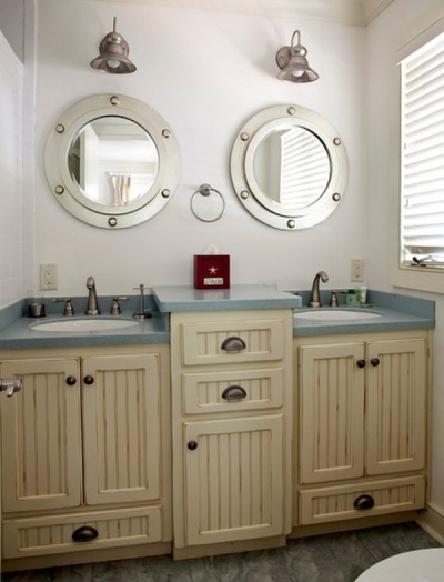 Furniture in a marine style bathroom