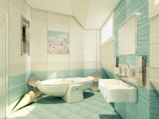 Elements of the sea bathroom decor