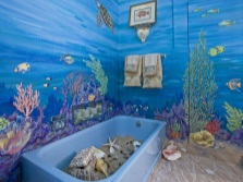 sea ​​theme in the bathroom