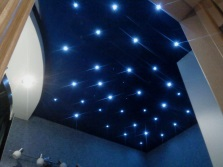 Spotlights for the creation of the starry sky in the bathroom