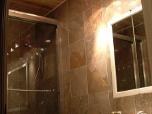 The luminance distribution by zones bathroom